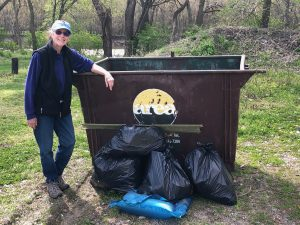 litter bags collected