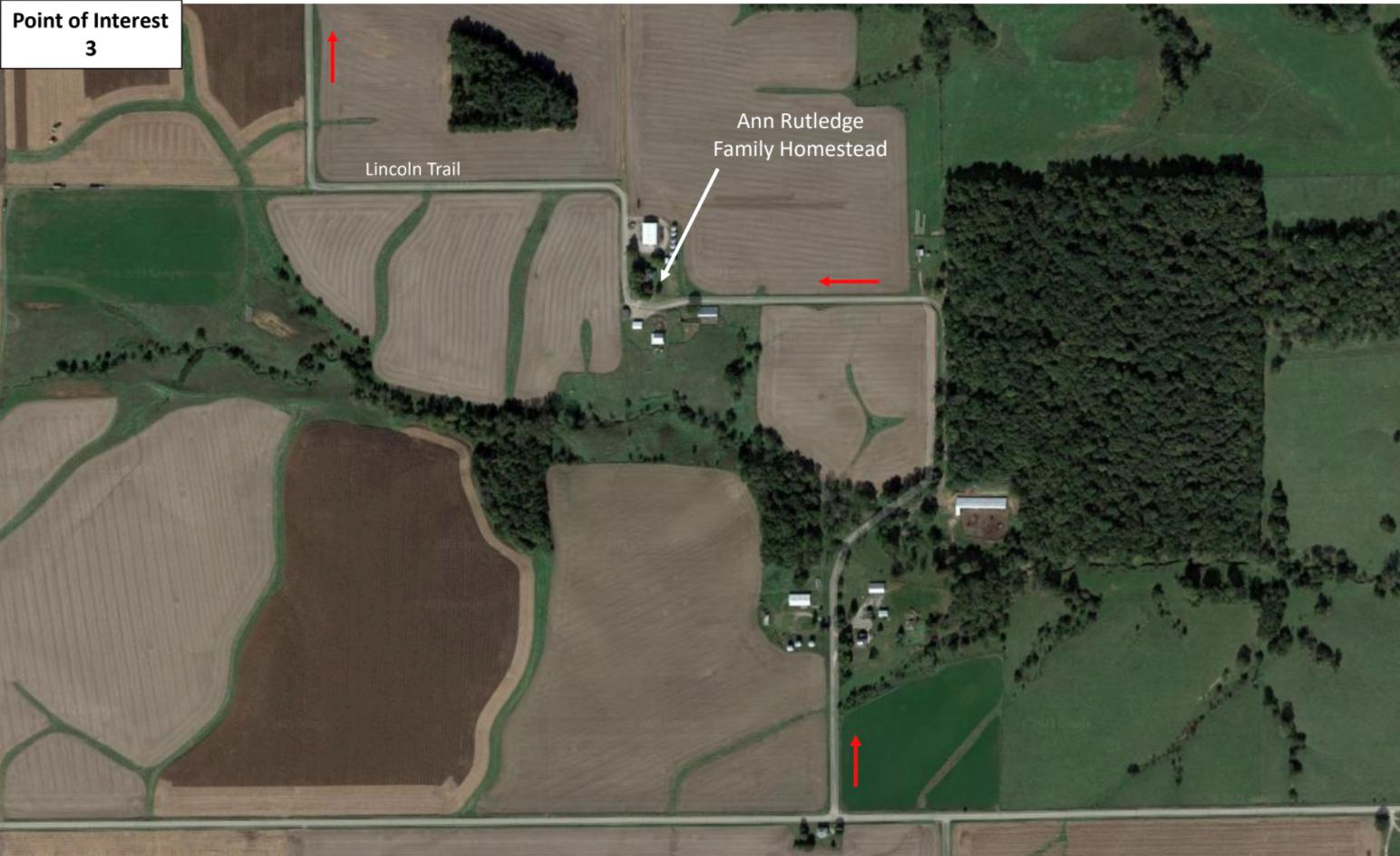 Site of Ann Rutledge family homestead.