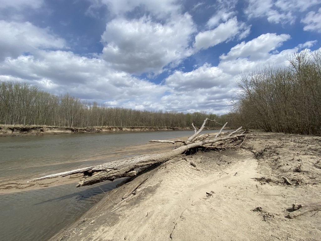 Sangamon River in Petersburg