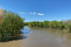 Sangamon River -- high water at end of April 2020