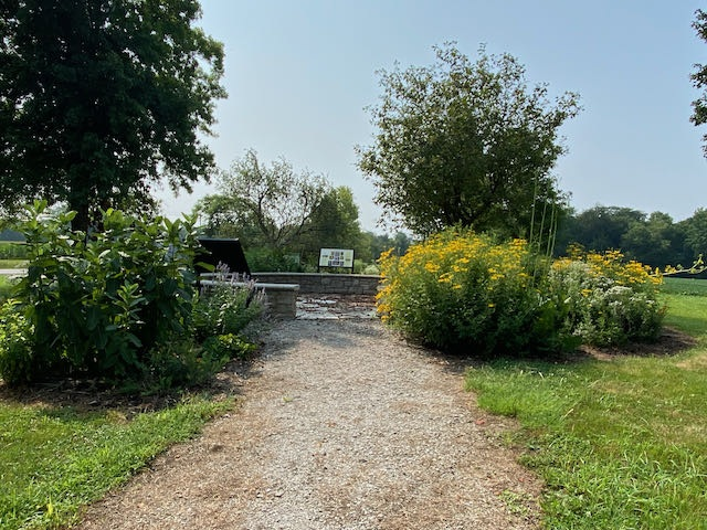 View of Council Ring and Pollinator Waystation