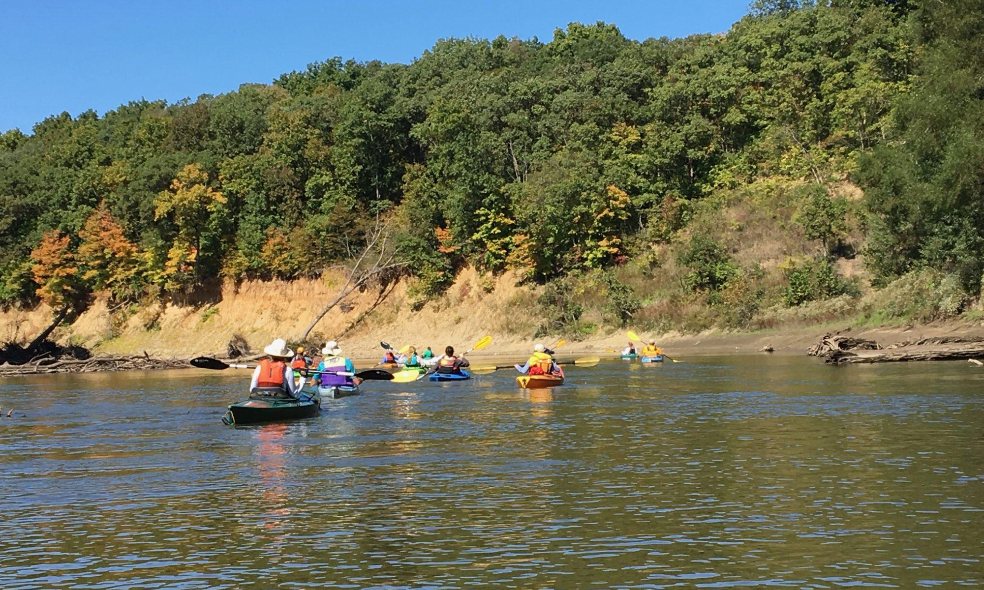kayaking on sangamon river